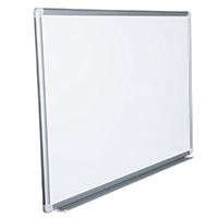 Whiteboard Magnettafel mit Alurahmen und durchgehender Stiftablage, in 10 Größen, schutzlackiert magnethaftend, mit Montagematerial, Fachhandelsqualität, Größe:90x60 cm