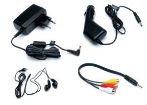 Xoro HSD 1011 Tragbarer DVD-Player mit DVB-T2 Tuner und 25,6 cm lieferumfang