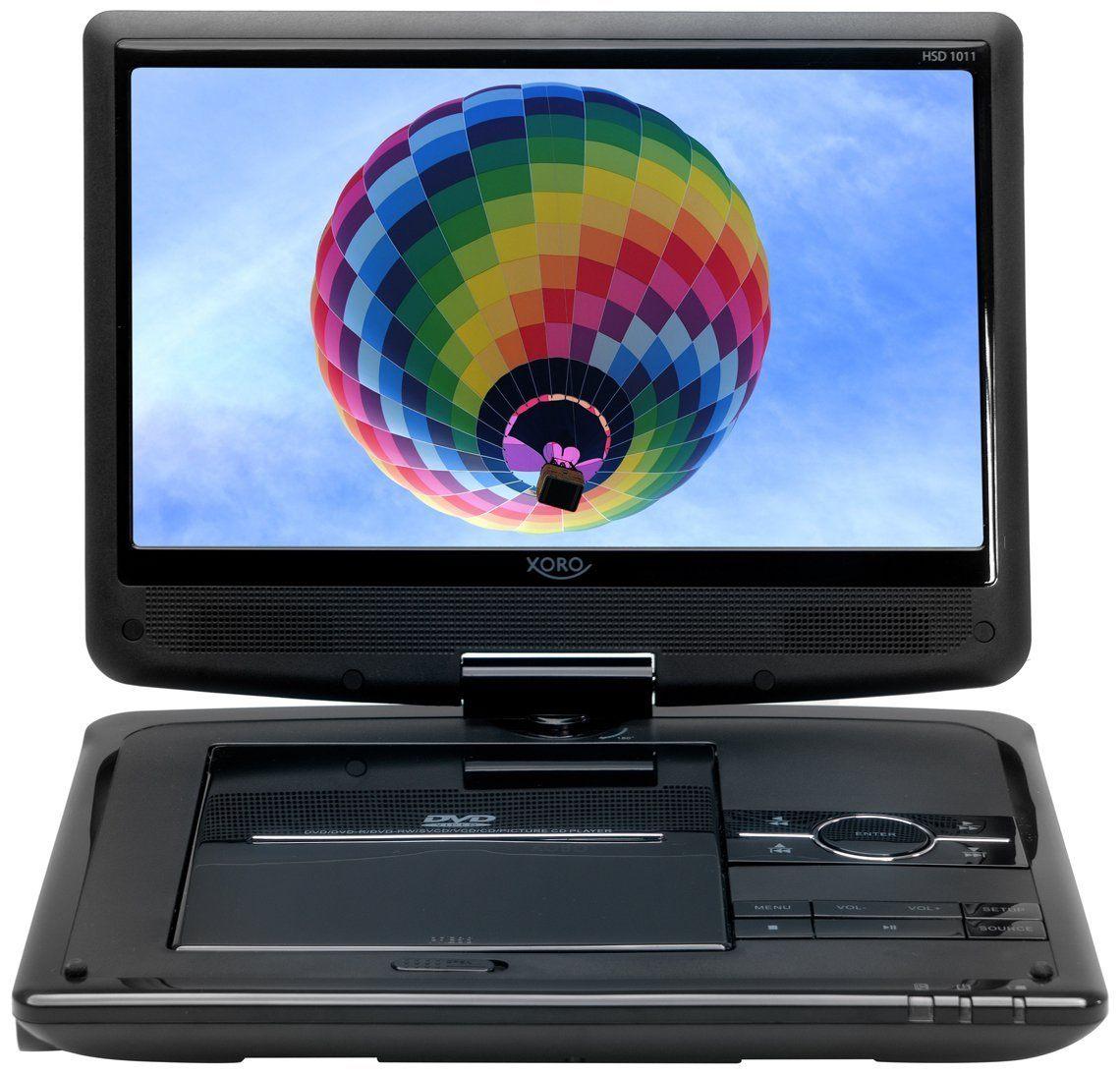 Xoro HSD 1011 Tragbarer DVD-Player mit DVB-T2 Tuner und 25,6 cm