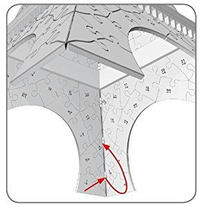 01 6 Ravensburger 3D Puzzle Eiffelturm Bei Nacht 125791