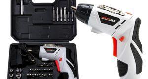 45 in 1 Akku Bohrschrauber, Calar Multi Funktions Nachladbare Elektrische Bohrmaschine mit LED Licht, Elektrische Ausbessern Werkzeug Sätze EU Stecker 4.8V Elektro-Schrauber Kit