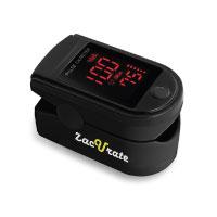 ACC U Rate Premium Fingertip Pulsoximeter Blutsauerstoff-Sättigungs-Monitor mit schwarzem Silikon Cover