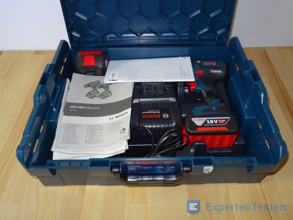 Akkuschrauber Bosch 18V mit Akku und Ladegerät im Koffer