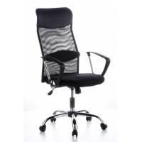hjh OFFICE 621100 Bürostuhl ARIA HIGH Netz-Stoff Schwarz Schreibtischstuhl mit Armlehnen und Netzrücken