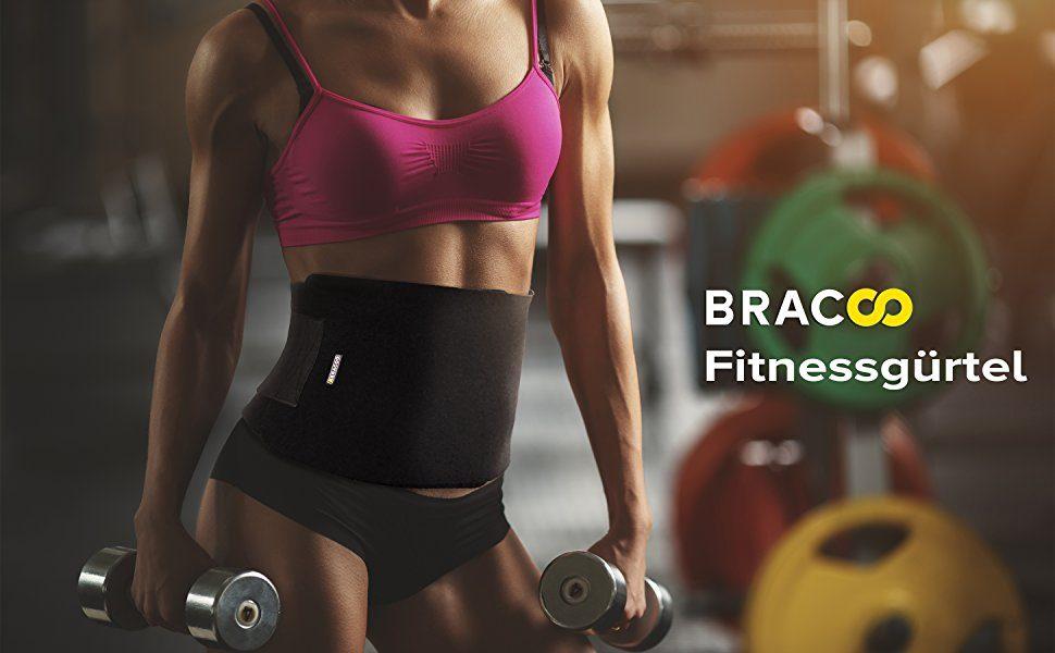 BRACOO Bauchweggürtel - der ideale Trainingsbegleiter für einen straffen Bauch