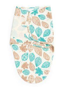 Baby Pucksack mit stilvollem Blättermuster - 100% Baumwolle - Praktischer Klettverschluss