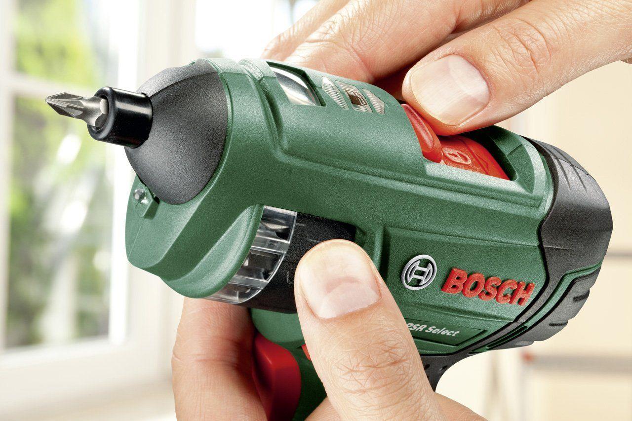 Bosch DIY Akku-Schrauber PSR Select, Ladegerät, integrierte Bittrommel, 12 Schrauberbits, Koffer (3,6 V, Schrauben-Ø bis 5 mm) im Test