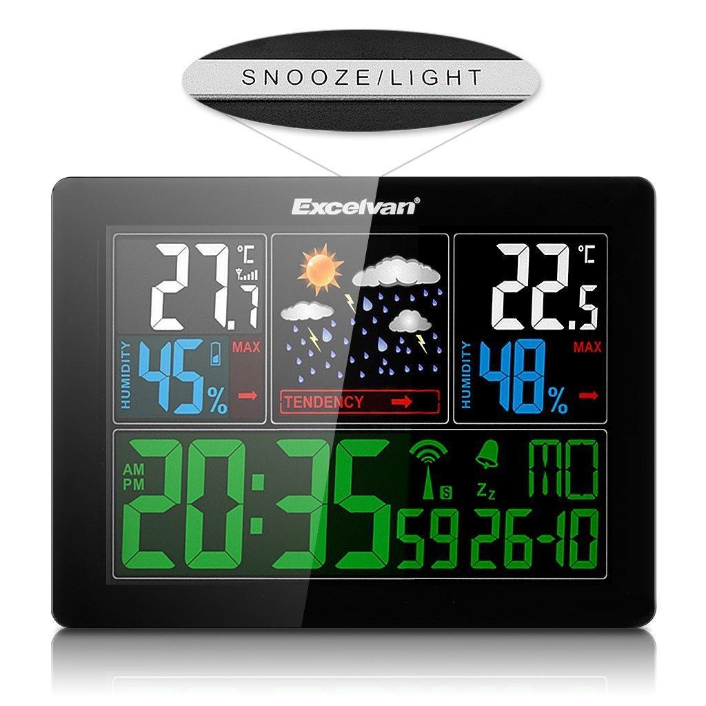 Bunt Funk-Wetterstation Hygrometer Wetterstationen Mit Vorhersage Temperatur Luftfeuchtigkeit Außensensor