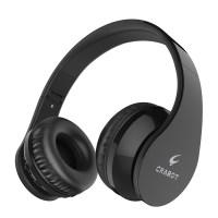 Crabot C2 Drahtloses Headset Bluetooth V4.1 Faltbarer Kopfhörer HiFi Stereo Sound mit Mikrofon 3.5mm Klinkenstecker für Smartphones Tablets Schwarz