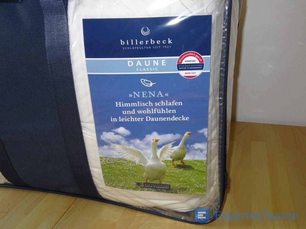 Daunendecke von Billerbeck verpackt