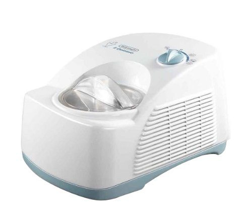 DeLonghi ICK 5000 Eiscremeautomat, Kompressor, weiß