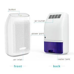 hysure Luftentfeuchter 700ml Mini Leise Raumentfeuchter Elektrisch Entfeuchter Dehumidifier, 700ml Luftentfeuchter