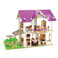 Eichhorn 100002513 - Villa, 27-teilig, inklusive Möbeln und 4 Puppen