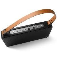 GGMM E5 Tragbarer WLAN Lautsprecher Airplay mit Amazon Alexa, WiFi Lautsprecher Multiroom für Musik Streaming + Bluetooth, Satter Sound und kraftvoller Bass (20W Treiber), Höhen- und Bassregler, 15 Stunden Akkulaufzeit, USB-Ladeport, Airplay DLNA Spotify iHeartRadio. (Schwarz)