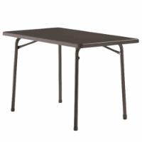 Sieger 220/G Garten-Klapptisch mit mecalit-Pro-Platte 115 x 70 cm, Stahlrohrgestell eisengrau, Tischplatte Schieferdekor anthrazit