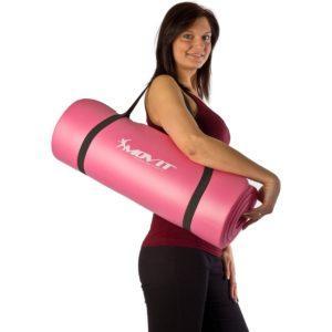 MOVIT Pilates Gymnastikmatte, Yogamatte, phthalatfrei, SGS geprüft, in 2 Größen 190cm x 100cm oder 190cm x 60cm