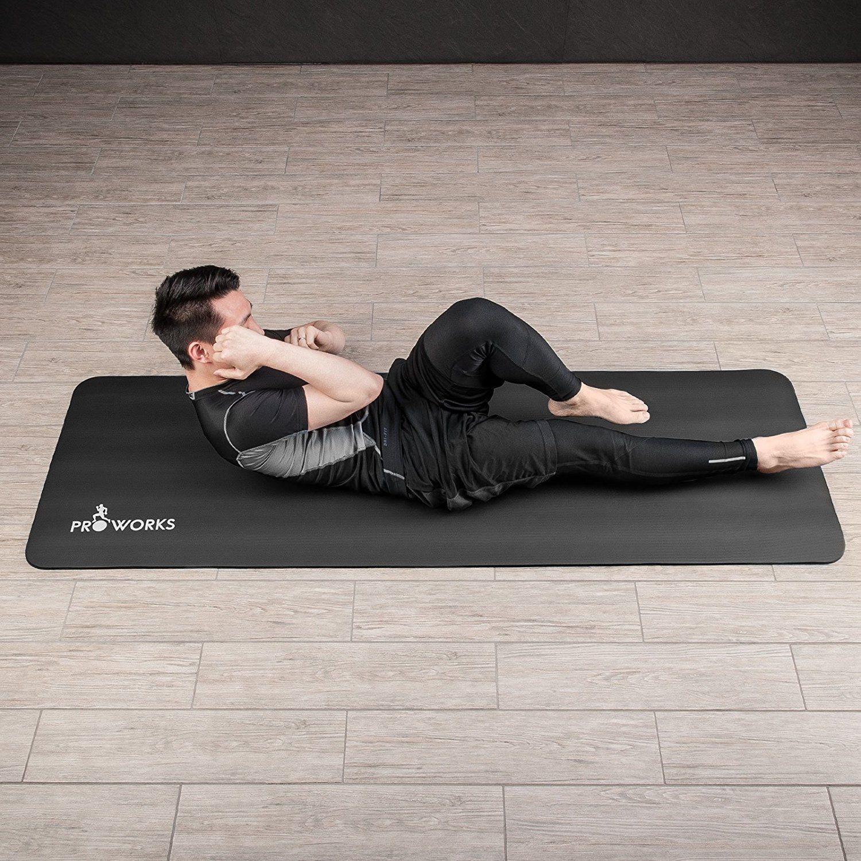 Proworks Große Premium Yogamatte Gepolstert & Rutschfest Gymnastik