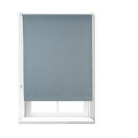 Relaxdays Verdunkelungsrollo grau mit Hitzeschutz, Thermo Rollo Klemmfix, blickdichtes Seitenzugrollo BxH 86 x 165 cm