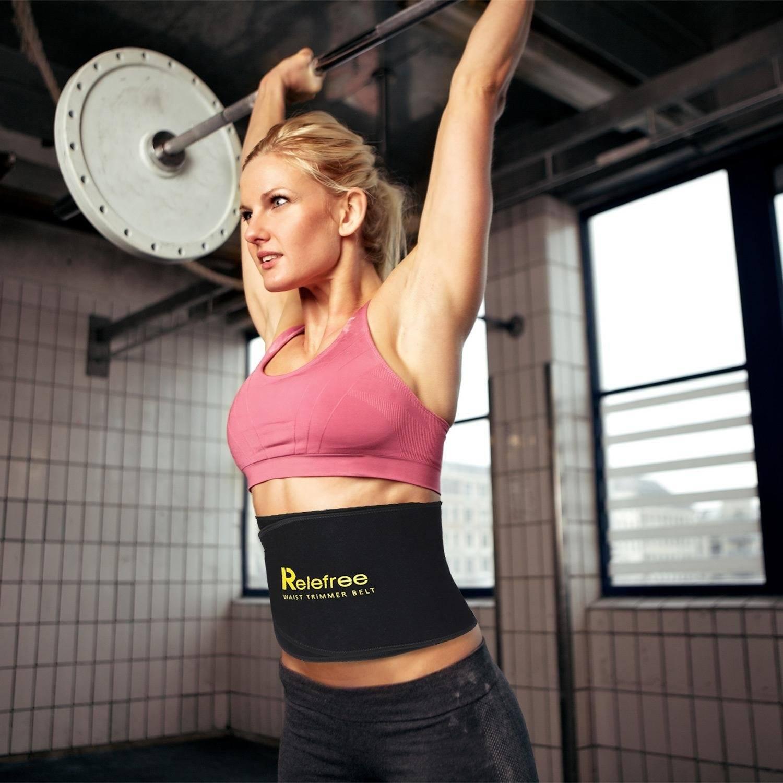 Relefree Slimmer belt Bauchweggürtel Atmungsaktiv für Gewichtsverlust Bodybuilding für Herren Damen Fitness