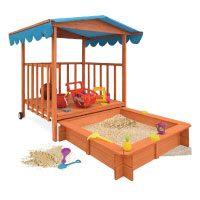 Sandkasten-Dach-XL-Kinder-Spielveranda-Spielhaus-Sandbox-Spielveranda-Holz-Spielhaus-Sonnenschutz-Deckel-Sandbox-UV-Schutz