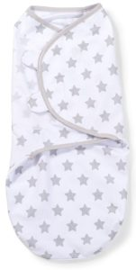 SwaddleMe-Original-Pucksack, klein (0-3 Monate), graue und weiße Sterne