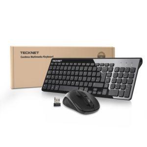 Tastatur und Maus, TeckNet Wireless Desktop X600 Kabellose Deutsche Tastatur und Maus (QWERTZ, deutsches Tastaturlayout) Test