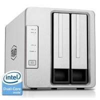 TerraMaster F2-220 2-Bay NAS Gehäuse Cloud Server mit Intel-Dual-Core 2,41GHz CPU 2GB RAM, PLEX DLNA Media Server, RAID Gehäuse für 2.5/3.5 festplatte SSD(Diskless)