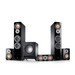 Teufel Ultima 40 Surround 5.1-Set Schwarz Film Subwoofer Lautsprecher Movie Musik Raumklang Sound Heimkino DTS HD Komplettanlagen 5.1 Soundanlage