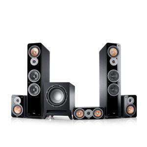 Teufel Ultima 40 Surround 5.1-Set Schwarz Film Subwoofer Lautsprecher Movie Musik Raumklang Sound Heimkino DTS HD Komplettanlagen 5.1 Soundanlage