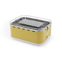 Barbecook rauchfreier Holzkohlegrill / Tischgrill Carlo mit Tragetasche, gelb, 43,5 x 33,5 x 20,5 cm, 2235925000