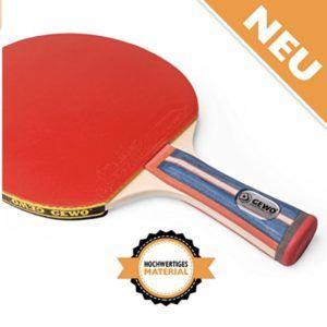 Der Tischtennisschläger konkav von GEWO hat den 2. Platz.