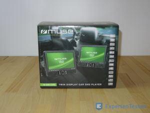 Tragbarer DVD Player in der Verpackung