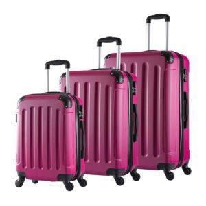 WOLTU RK4204pk Reise Koffer Trolley Hartschale mit erweiterbare Volumen