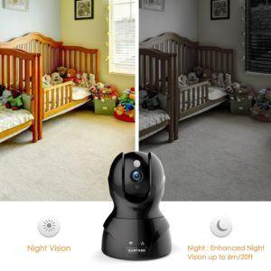 Überwachungskamera Wlan IP 720P HD von Kamtron für Tag und Nacht