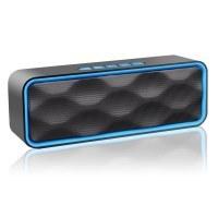 zoeetree S1 Wireless Bluetooth Lautsprecher, outdoor Stereo-Lautsprecher mit HD Audio und Enhanced Bass, integrierter Dual Driver Freisprecheinrichtung, Bluetooth 4.2,, Freisprecheinrichtung, FM-Radio und TF Card Slot (blau)