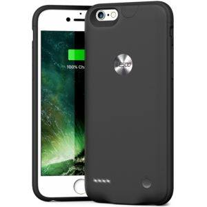 iPhone 6 / 6s Akku hülle Wesoo 2500 mAh ultradünne iPhone 6 / 6s 4,7 Zoll Ladehülle (Schwarz)
