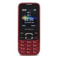 swisstone SC 230 Dual SIM Handy (4,5 cm (1,8 Zoll), mit extra großem beleuchtetem, Farbdisplay) rot