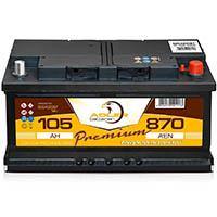 Adler Batterie 12 V / 105 Ah - 870 A/EN