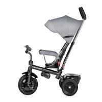 4-in-1-Kinderdreirad-Tricycle-Kinder-Fahrrad-Dreirad-mit-Sonnendach-&-Schubstange---grau