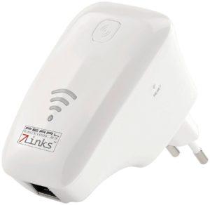 7links WLAN Verstärker WLAN-Repeater WLR-360 wps mit Access Point, WPS und 300 MBit-s (WLAN Extender)