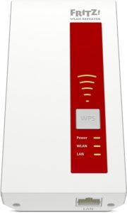 AVM FRITZ!WLAN Repeater 1750E (Dual-WLAN AC + N bis zu 1.300 MBit-s 5 GHz + 450MBit-s 2,4 GHz), Rot-Weiß, deutschsprachige Vers