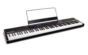 Alesis Recital - Digital Piano mit 88 Tasten in Standardgröße und eingebauten 10W Lautsprechern, Kopfhörer Ausgang und Lernfunktionen
