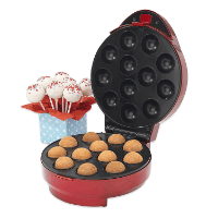 American Originals Cake Pop Maker Bundle, Metallic Red
