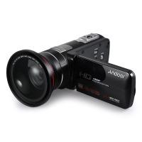 Andoer HDV-Z80 1080P Full HD 24MP Digital Videokamera Camcorder mit 0.39X Weitwinkel Makro Objektiv Fernbedienung 3