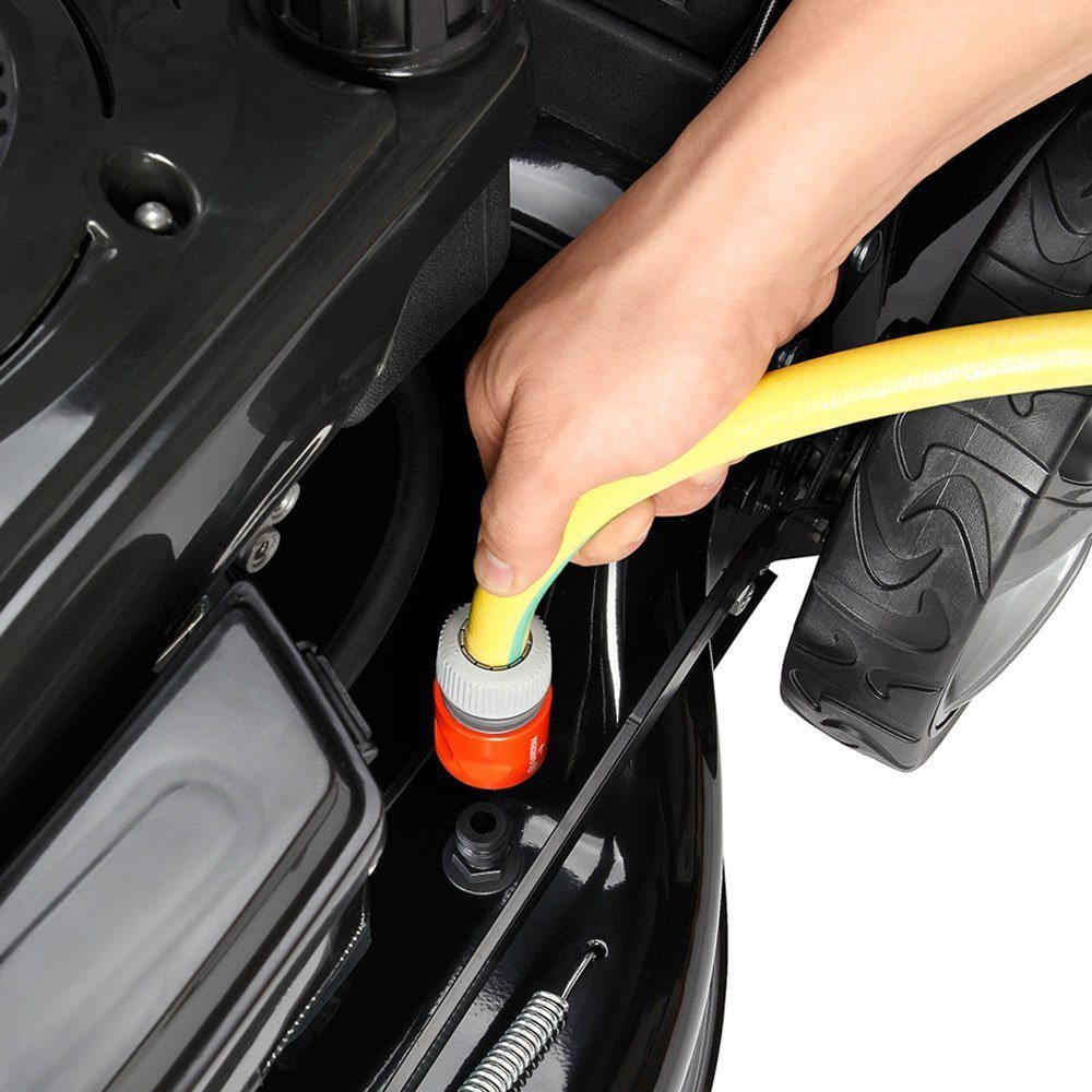 BRAST Benzin Rasenmäher 2,2kW (3,0PS) 41cm Schnittbreite Stahlblechgehäuse 45L Grasfangkorb Easy Clean TÜV Mäher Benzinmäher Test