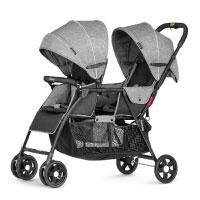 Besrey Geschwisterwagen Zwillingswagen Sportwagen für 2 Kinder