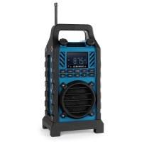 Duramaxx • 862-BTB-BL • Bluetooth Lautsprecher • Baustellenradio • MP3-fähiger USB-Port und SD-Slot • UKW / MW-Radiotuner • 20 Senderspeicher • LED-Display • AUX-Eingang • stoßfest • spritzwassergeschützt • Tragegriff • Netz- und Akku-Betrieb • blau