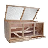 Großer-Hamsterkäfig-Mäusekäfig-Nagerkäfig-Rattenkäfig,-ca.-115x60x58cm,-Holz