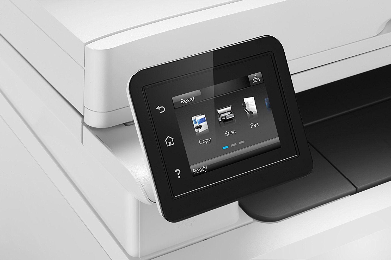 HP Color LaserJet Pro M281fdw Multifunktions-Farblaserdrucker, Laserdrucker (Drucken, scannen, kopieren, Faxen, WLAN, LAN, Duplex, Airprint) weiß Test