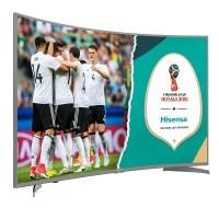 Hisense H49NEC6500 123 cm (49 Zoll) Curved Fernseher (Ultra HD, HDR10, Triple Tuner, Smart TV) [Energieklasse A]